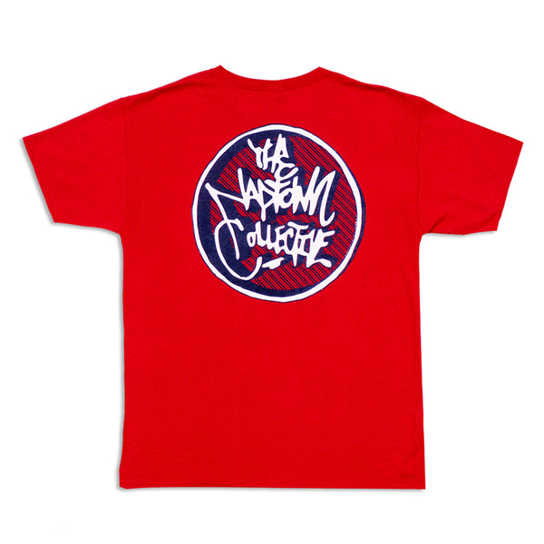 3D Circle Logo T-Shirt Red