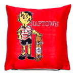Skaterat Throw Pillow Red