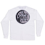 3D Circle Logo Long Sleeve T-Shirt White