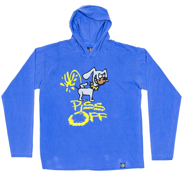 Piss Off Hooded Shirt Flo Blue