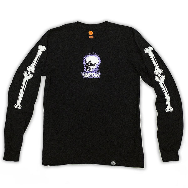 Bone Yard  Long Sleeve Shirt Black