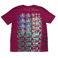 Test Print Allover T-Shirt Maroon