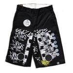 Test Print Allover Dickies Shorts Waist 30