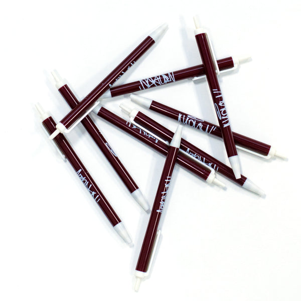 Maroon Tag Retractable Pen