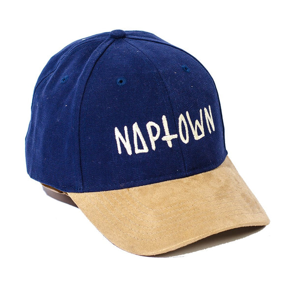 Navy Logo Suede Bill Cap
