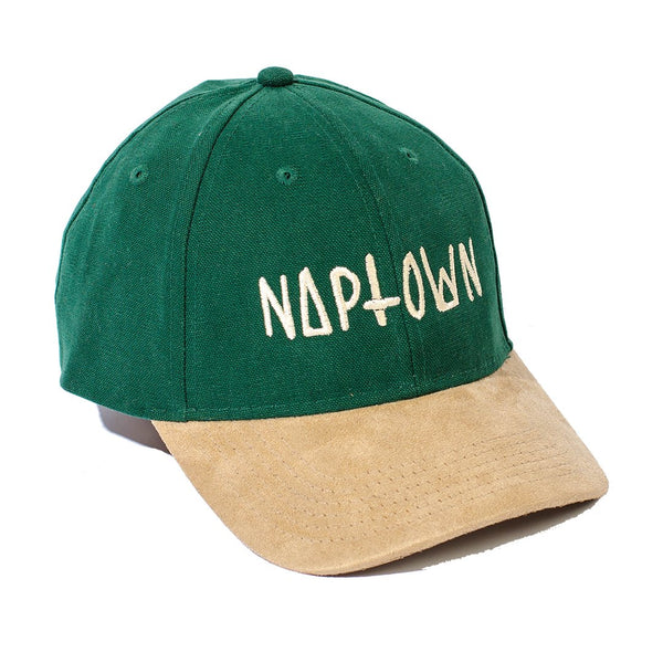 Green Logo Suede Bill Cap