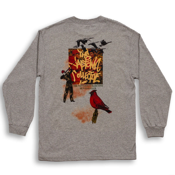 Hunting Club Long Sleeve Shirt Ash Grey