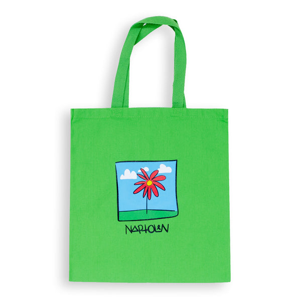 Flower Tote Bag Green