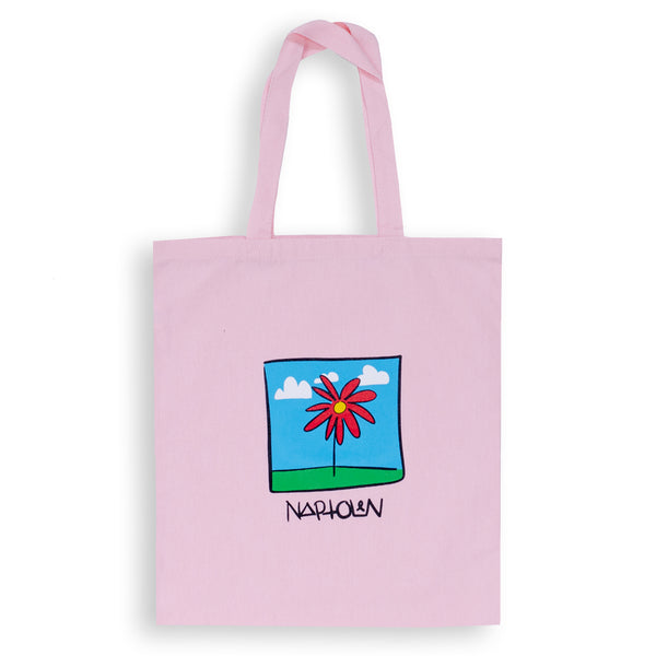Flower Tote Bag Pink