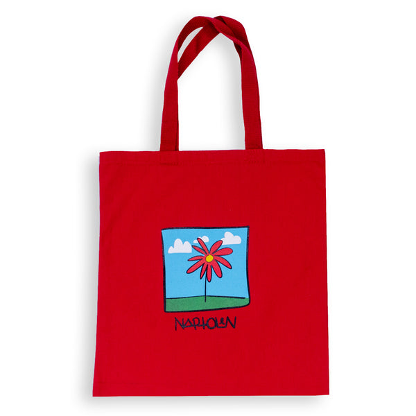 Flower Tote Bag Red