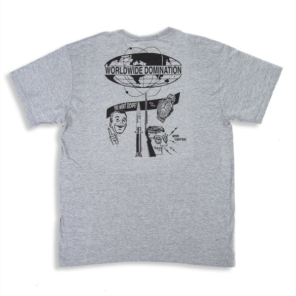 Worldwide  Domination T-Shirt Grey