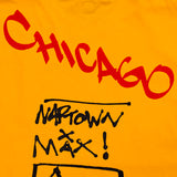 Chicago Spellout Tee Shirt Golden Yellow