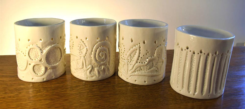 Porcelain Hand Carved Oil Burners
