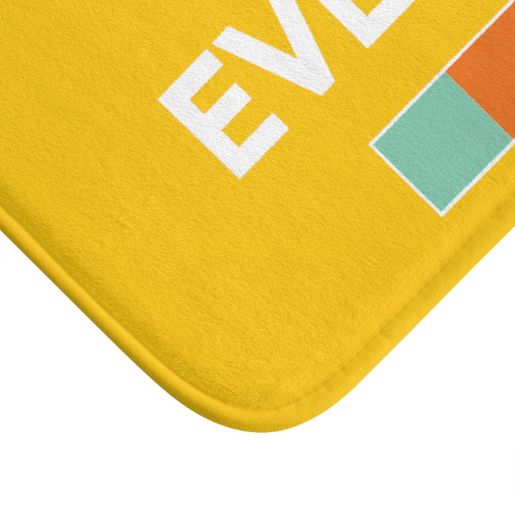 """NOT FOR EVERYBODY"" Yellow MICROFIBER BATH MAT"