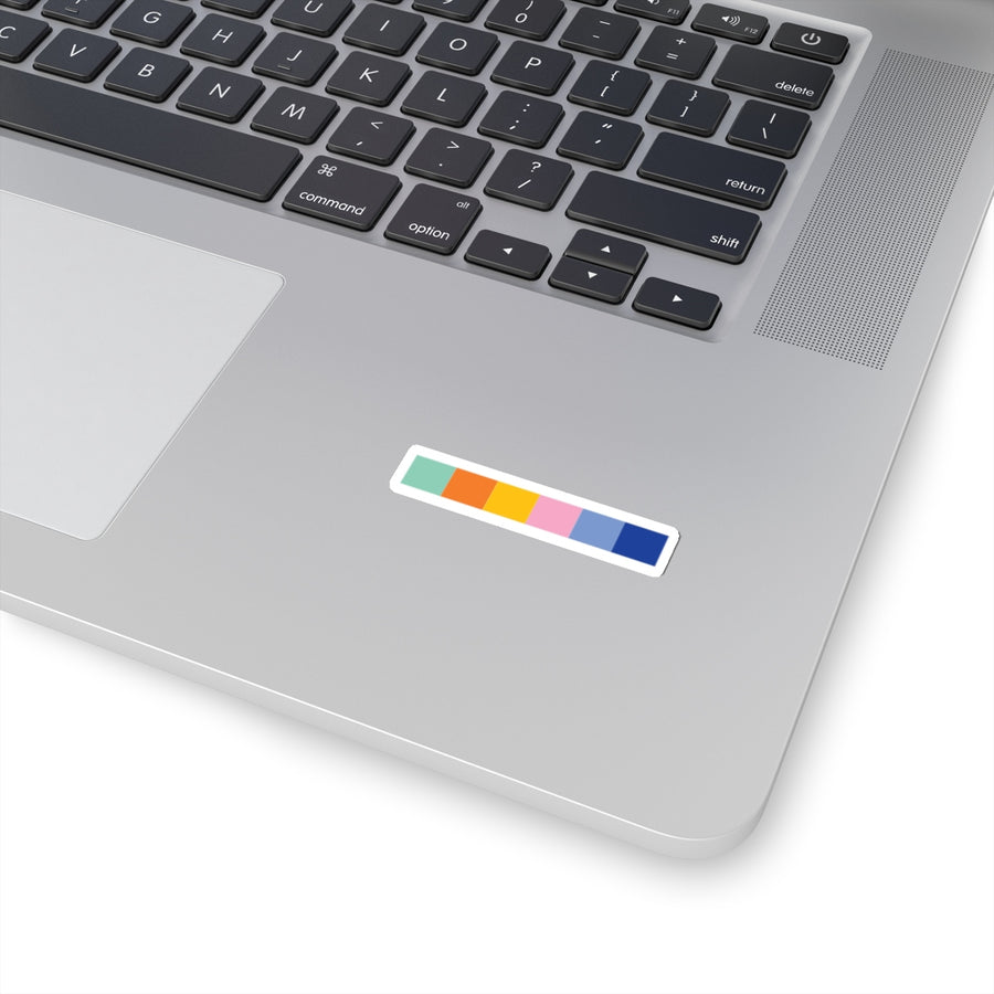 URBANE COLOR BLOCK LOGO STICKERS