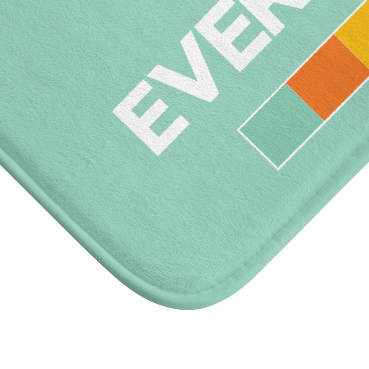 """NOT FOR EVERYBODY"" Mint MICROFIBER BATH MAT"