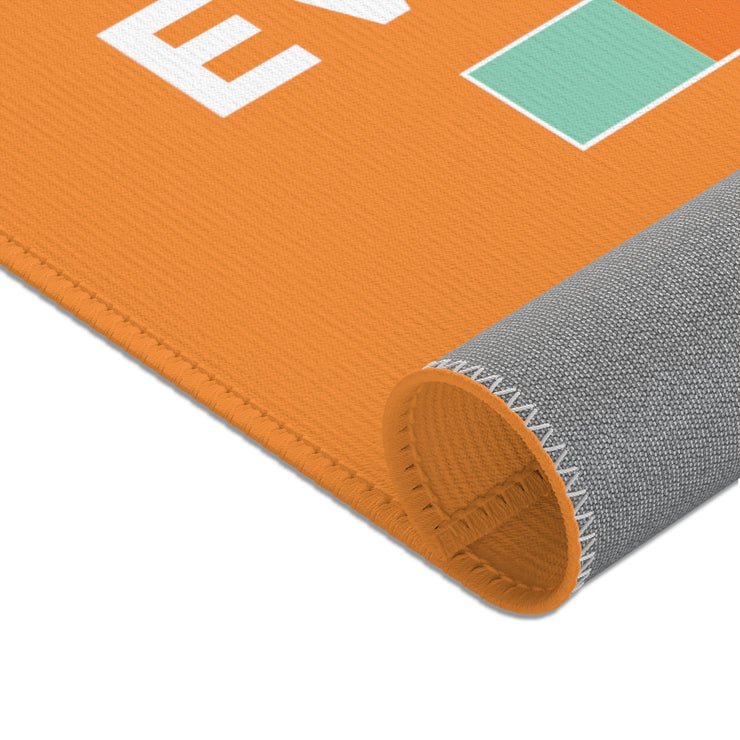 "Orange ""NOT FOR EVERYBODY"" Area Rug"
