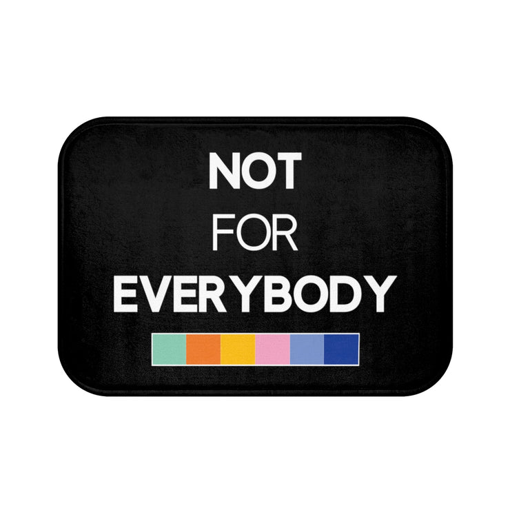 """NOT FOR EVERYBODY"" Black MICROFIBER BATH MAT"