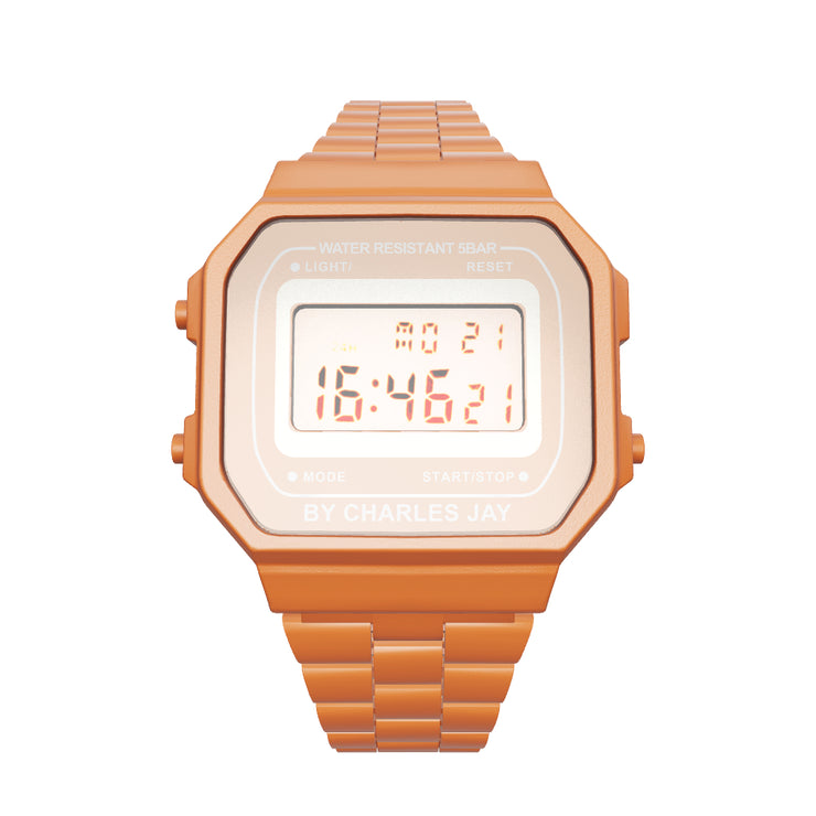 WATCH BY CHARLES JAY 002 ORANGE