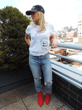 Model on rooftop in Fuck It Bucket Graphic Tee