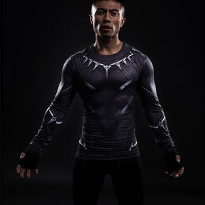 Black Panther  long-sleeved compression T-Shirt