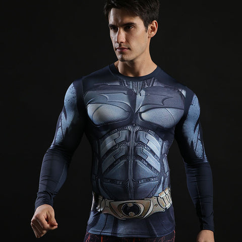 Image of Batman long-sleeved compression T-Shirt