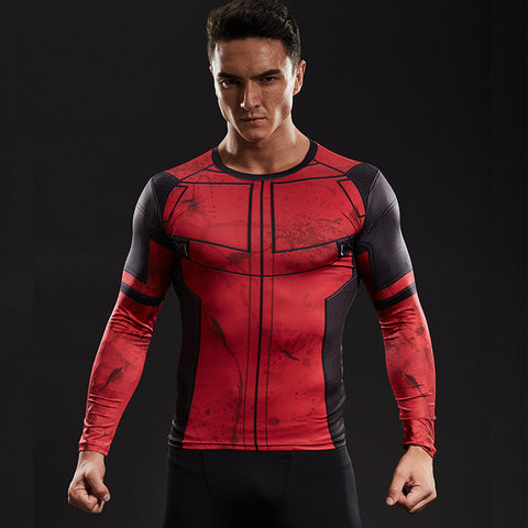 Deadpool  long-sleeved compression T-Shirt