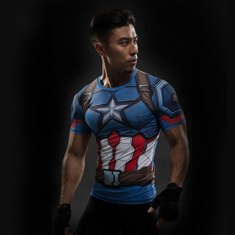 Image of Captain America Compression Shirt