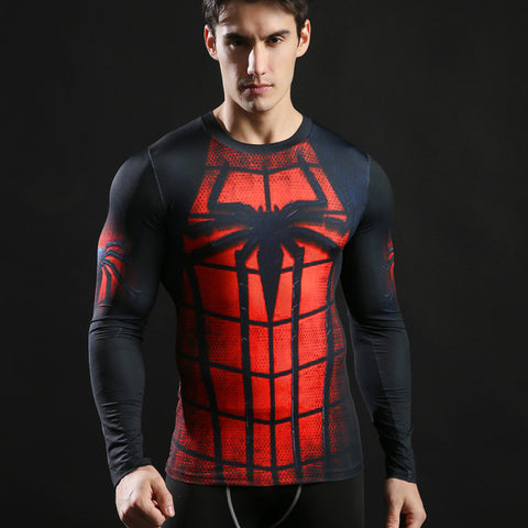 Image of Rashguard Spiderman  long-sleeved compression T-Shirt