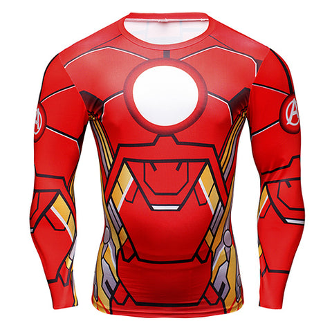Iron Man  long-sleeved compression T-Shirt