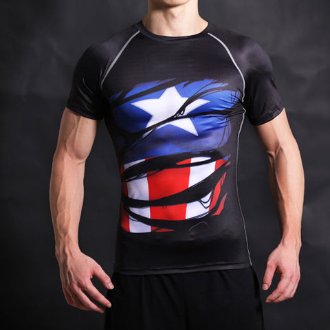 Image of White Super-Man Alter Ego Compression T-Shirt