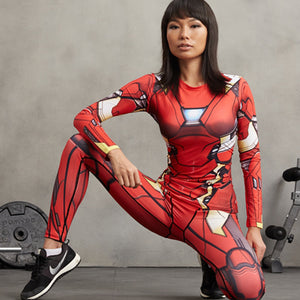 Iron Man Compression Shirt  For Ladies