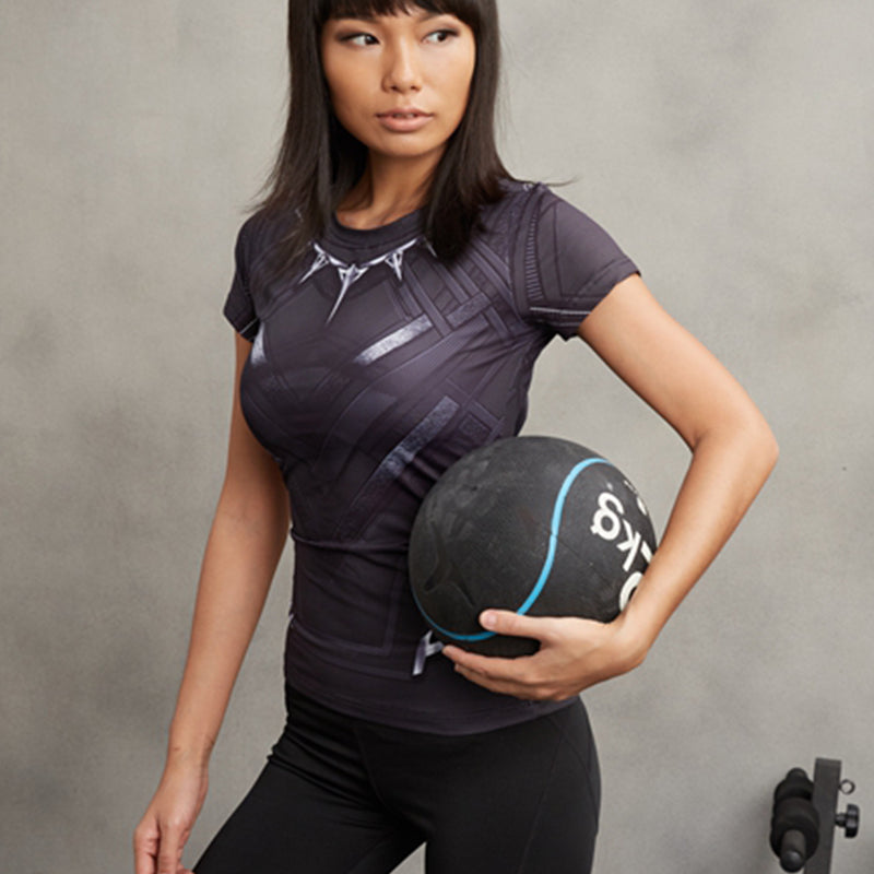 Black Panther Compression Shirt For Ladies