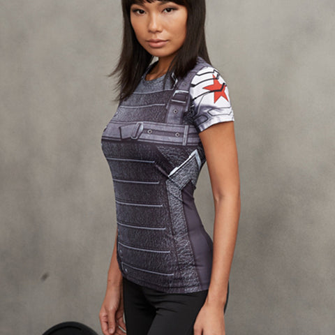 Winter Soldier Compression Shirt For Ladies