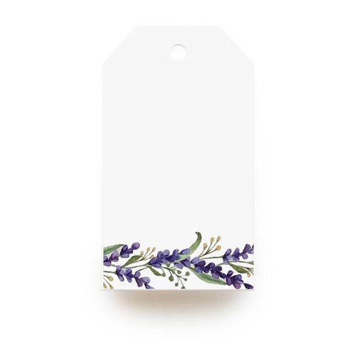 Floral Gift Tag - Purple