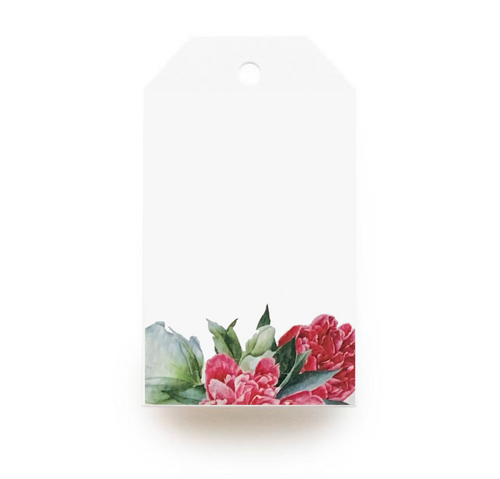 Floral Gift Tag - Red