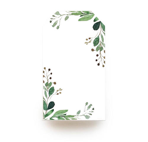 Floral Gift Tag - Leafy