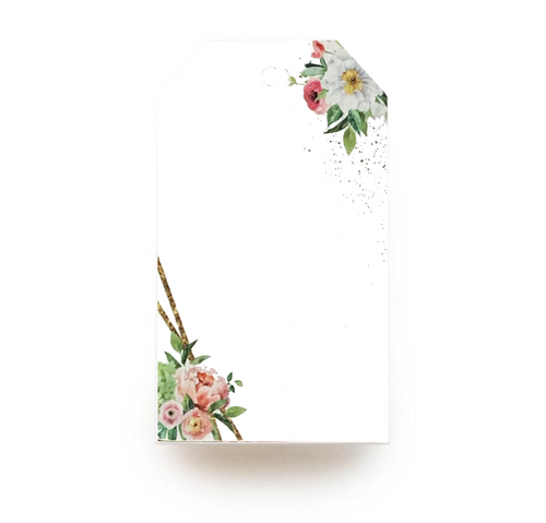 Floral Gift Tag - Gold