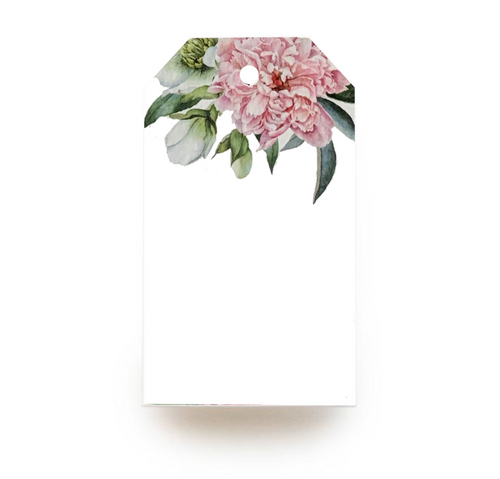 Floral Gift Tag - Pink
