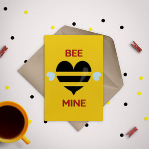 Bee Mine Greeting Card - Stationery in Lagos, Nigeria, Hybrid Pencil