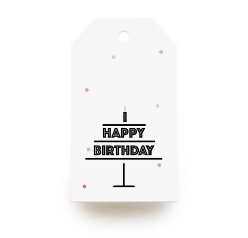 Birthday Cake Gift Tags x10, Gift Tags - Nigeria, Stationery, Hybrid Pencil
