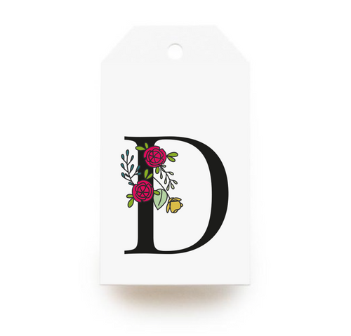 Floral Letter D Gift Tags - Stationery in Lagos, Nigeria, Hybrid Pencil