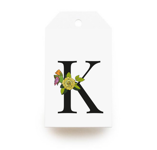 Floral Letter K Gift Tags - Stationery in Lagos, Nigeria, Hybrid Pencil