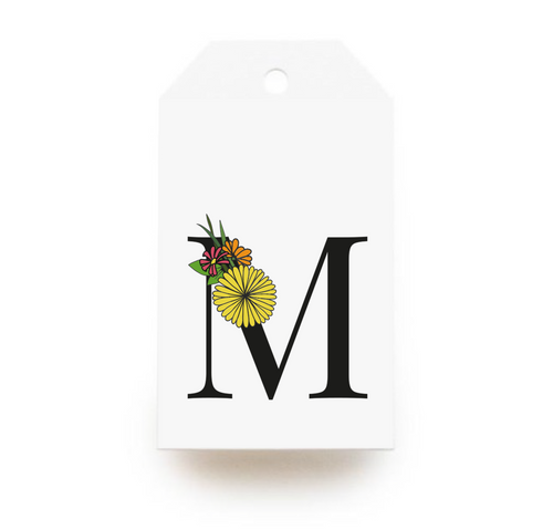 Floral Letter M Gift Tags - Stationery in Lagos, Nigeria, Hybrid Pencil
