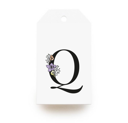 Floral Letter Q Gift Tags - Stationery in Lagos, Nigeria, Hybrid Pencil