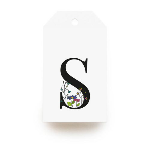 Floral Letter S Gift Tags - Stationery in Lagos, Nigeria, Hybrid Pencil