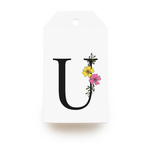 Floral Letter U Gift Tags - Stationery in Lagos, Nigeria, Hybrid Pencil
