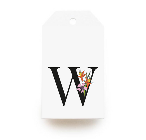 Floral Letter W Gift Tags - Stationery in Lagos, Nigeria, Hybrid Pencil