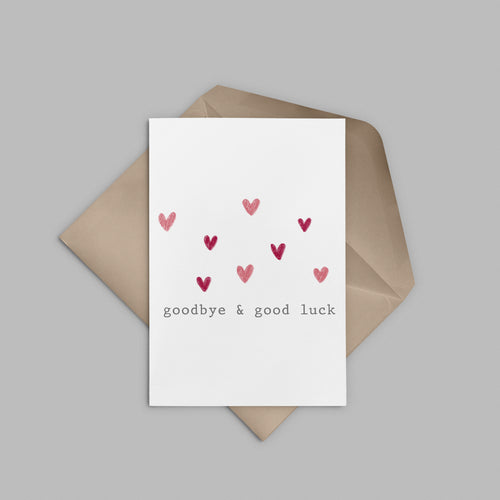 Goodbye & Good Luck Greeting Card - Stationery in Lagos, Nigeria, Hybrid Pencil