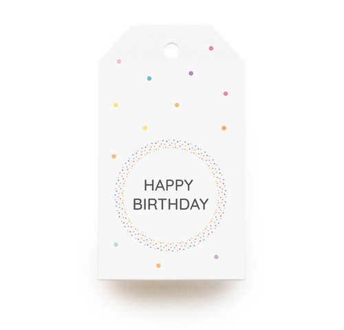Happy Birthday Gift Tags x10, Gift Tags - Nigeria, Stationery, Hybrid Pencil